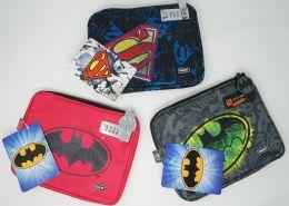 24 Units of Vaultz Tablet Ipad Case Superman Batman - School Supplies