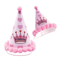 144 Units of Girls Birthday Hat - Party Favors