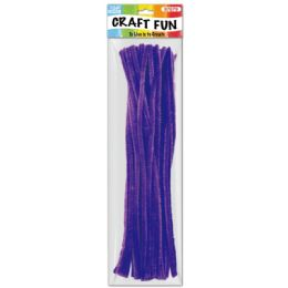 144 Units of Forty Count Tinsel Stems Dark Purple - Craft Stems