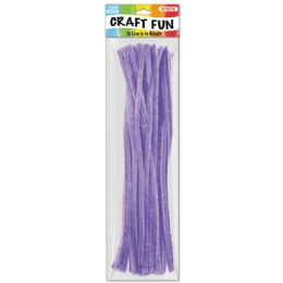 144 Units of Forty Count Tinsel Stems Purple - Craft Stems