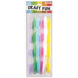 144 Units of Twenty Count Chenille Stems Light Colors - Craft Stems