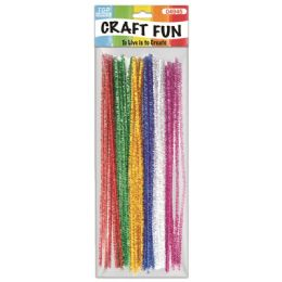 144 Units of Twenty Count Chenille Stems Glittter - Craft Stems