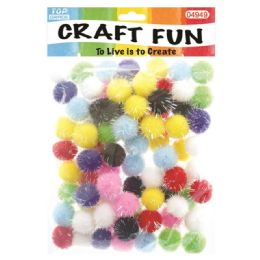 144 Units of Fuzzy Ball Craft Eighty Pack - Craft Stems