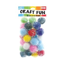 144 Units of Fuzzy Ball Craft Thirty Pack - Craft Stems