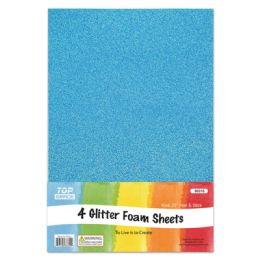 72 Units of Eva Glitter Sheet Sky Blue Foam - Foam & Felt