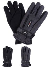 36 Units of Men Winter Ski Glove With Zipper And Fleece Lining - Ski Gloves