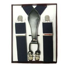 12 Units of Solid Navy Suspenders - Suspenders