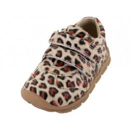 24 Units of Toddlers Leopard Printed Velcro Upper Sneakers - Toddler Footwear