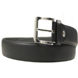 36 Units of Mens Black Dress Belt Assorted Sizes - Mens Belts