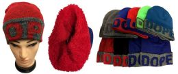 "36 Units of ""DOPE"" Plush Lining Winter Hat - Winter Beanie Hats"