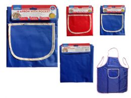 144 Units of Kitchen Apron With Pocket - Kitchen Aprons