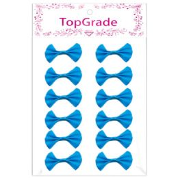 144 Units of Satin Bow Baby Blue - Arts & Crafts