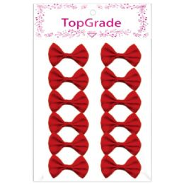 144 Units of Satin Bow Red - Arts & Crafts