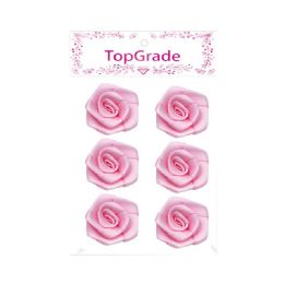 144 Units of Satin Flower Baby Pink - Arts & Crafts