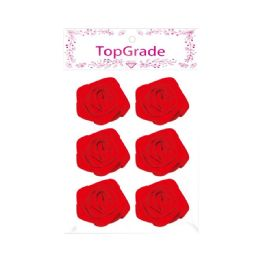 144 Units of Satin Flower Red - Arts & Crafts