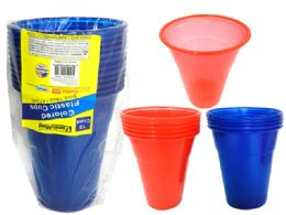 24 Units of 12 Piece Plastic Tumbler Cups - Cups