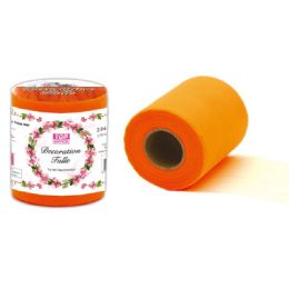 48 Units of Table Skirt In Orange - Sewing Supplies