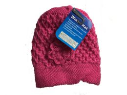 144 Units of Asst Colors Beanie With Pom-Pom - Fashion Winter Hats