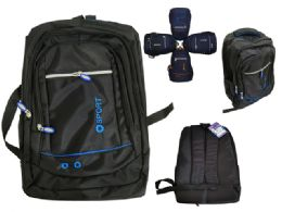 48 Units of Extra Large Expandable Laptop Backpack 3 Compartments Fits Macbook Pr Laptops And Ipad/surface, - Backpacks