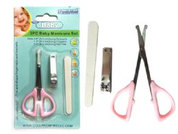 144 Units of 3pc Baby Manicure Set - Baby Beauty & Care Items