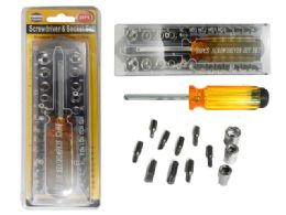 24 Units of 28 Pc Screwdriver & Socket Set - Screwdrivers and Sets