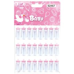144 Units of Mini Bottle Baby Pink - Baby Shower
