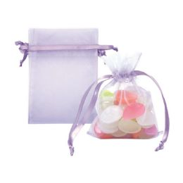 144 Units of Organza Pouch Purple - Baby Shower