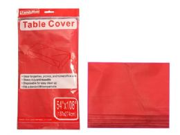 """96 Units of Red Table Cover 54x108"""" - Table Cloth"""