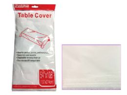 """96 Units of White Table Cover 54x108"""" White - Table Cloth"""