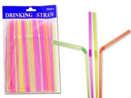 48 Units of 200pc Flexible Bendy Straws - Straws and Stirrers