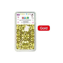 144 Units of Hair Beads Gold - Hair Accessories