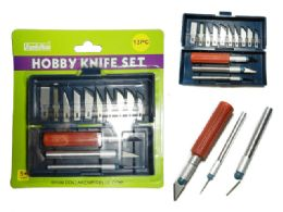 144 Units of 13 Pc Hobby Knife Set - Box Cutters and Blades