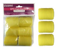 96 Units of 6pc Cling + Foam Hair Rollers - Hair Rollers