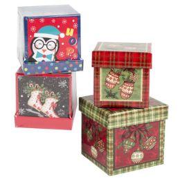 24 Units of Gift Box Christmas - Christmas Gift Bags and Boxes