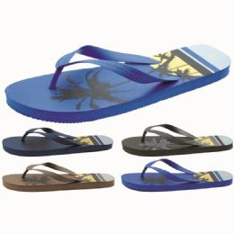 60 Units of Men's Tropical Printed Flip Flop - Men's Flip Flops and Sandals