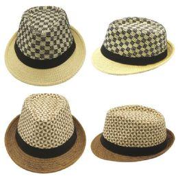 48 Units of Mens Summer Fedora Hat - Fedoras, Driver Caps & Visor