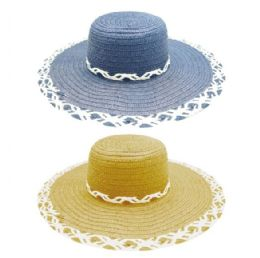 48 Units of Ladys Summer Hat With Flower - Sun Hats