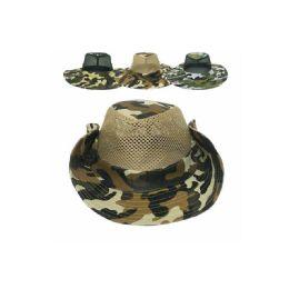48 Units of Mens Summer Mesh Fishing Hat - Hunting Caps