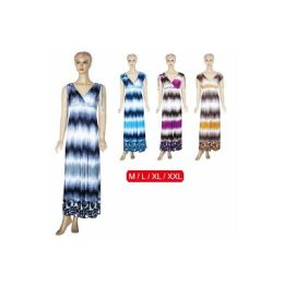 48 Units of Ladies Long Dress Mixed Size - Womens Sundresses & Fashion