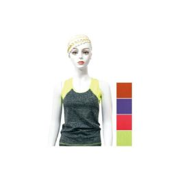 48 Units of Women's Sport Tank Tops - Assorted Colors - Womens Camisoles & Tank Tops