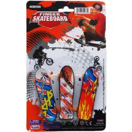 144 Units of Finger Mini Skateboard On Blister Card - Cars, Planes, Trains & Bikes