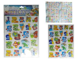 144 Units of Alphabet + Number Stickers - Stickers