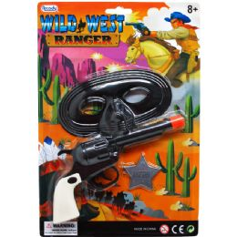 72 Units of CLICKING TOY GUN WITH MASK ON BLISTER CARD - Toy Weapons