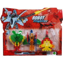 108 Units of Robots On Blister Card Two Assorted Styles - Action Figures & Robots