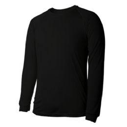 60 Units of Long Sleeves Black Thermal t shirts - Mens Thermals