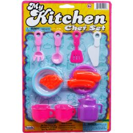 96 Units of KITCHEN PLAY SET ON BLISTER CARD - Girls Toys
