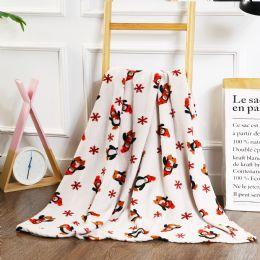 24 Units of Christmas Penguins Printed Fleece Blankets Size 50 x 60 - Fleece & Sherpa Blankets