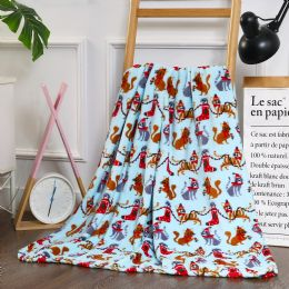 24 Units of Christmas Cats Printed Fleece Blankets Size 50 x 60 - Fleece & Sherpa Blankets