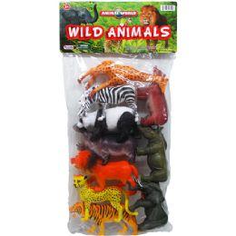 24 Units of Wild Toy Animals Set In Pvc Bag - Animals & Reptiles