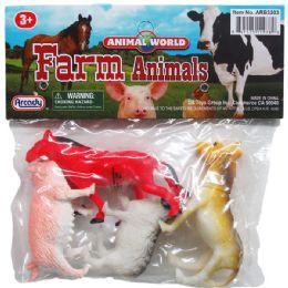 96 Units of Farm Animals In Pvc Bag - Animals & Reptiles